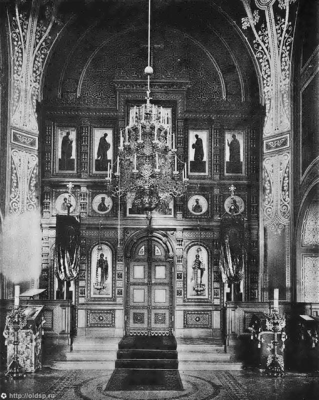 Внутренний вид церкви до революции