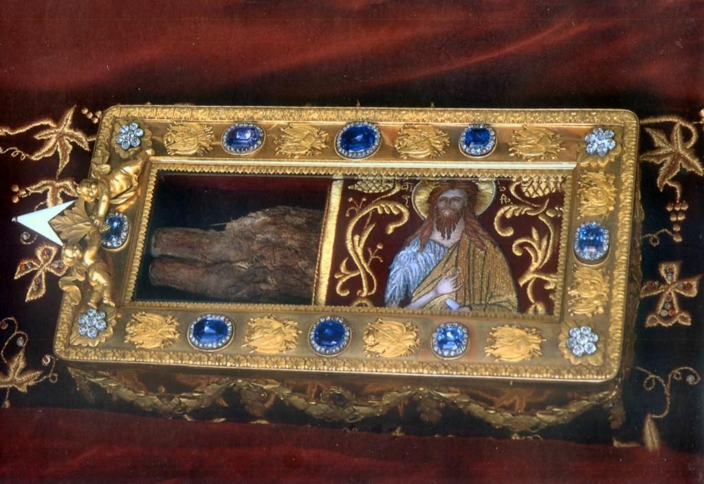 Ковчег с десницей Крестителя