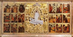 Икона Успения Божией Матери Псково-Печерская